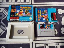 Nintendo SNES juego con embalaje original Magical Quest Star anillo Mickey Mouse