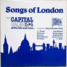 "Songs of London - Wings, Abba, Kinks+ Others - Blue Vinyl 12"" LP"