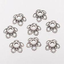 20 x 11mm Tibetan Silver Plated Flower Bead Caps