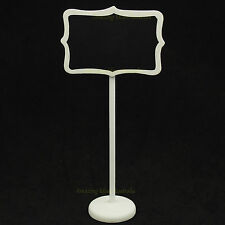 6 x White Chalkboard Stands Vintage Style | Place Cards Lolly Buffet Blackboard