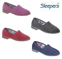 Ladies Velour Rubber Sole Roll Top Slippers Black Red Purple Navy Size 3 4 5 6 7