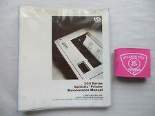 Lear Siegler 300 Series Ballistic Printer Maintenance Manual