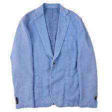NWT $950 RODA Unstructured Sky Blue Woven Cotton-Hemp Sport Coat 42 (Eu 52)