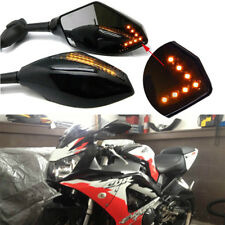Motorcycle Supersport LED Turn Signals Racing Side Mirrors For Honda CBR900 929