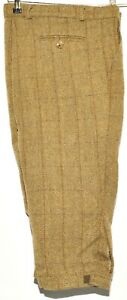 """GAME CHECK TWEED GREEN BREEKS PLUS FOUR FULLY COTTON LINED 36""""W 20"""" L"""