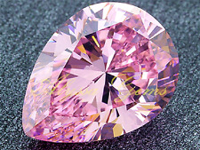 LARGE 15x20mm UNHEATED  PEAR CUT 25.85Ct PINK SAPPHIRE  AAAA+ LOOSE GEMSTONE