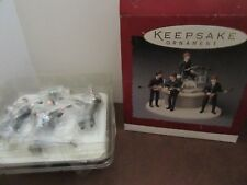 1994 Hallmark Set Of All 4 Beatles Bandstand Ornaments New In Box.