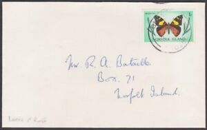 NORFOLK IS 1977 1c local rate cover - 1c Butterfly..........................M644