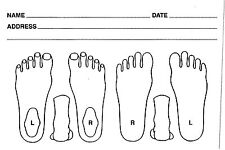Chiropody Patient Record Cards - Pocket Size  - Podiatry Feet Record Cards
