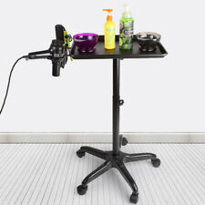 Black Equipment Salon Spa Service Tray Beauty Trolley Cart with Appliance Holder
