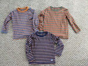 Boys Mini Boden 3 Stripey Tops X 3 bundle Age 3-4