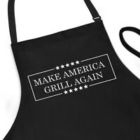 Funny Apron, Make America Grill Again, MAGA Trump gift for men BBQ Cooking Apron