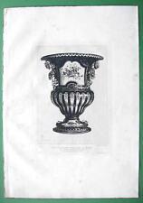 ORIGINAL ETCHING Print - Porcelain Vase from Sevres