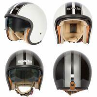 Spada Raze Kromatik Open Face Motorcycle Motorbike Retro Crash Helmet Sun Visor