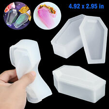 Resin Casting Silicone Vampire Coffin DIY Molds Epoxy Jewelry Box Mould W/Cover