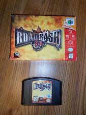 Road Rash 64 (Nintendo 64, 1999) N64 Black Cartridge-Box TESTED