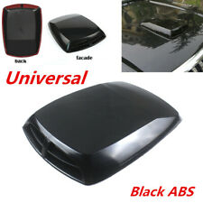 Auto Car 3D Air Flow Intake Hood Scoop Vent Bonnet Cover Plastic Sticker Black