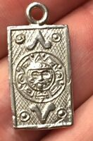 AZTEC STYLE MADE IN MEXICO VINTAGE STERLING 925 BRACELET CHARM Or PENDANT