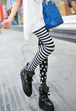 Women Stretchy Print Leggings Skinny Elastic Leggings Pencil Pants Trousers GW