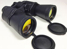 10x50 pair binoculars general purpose full size coated lens with bag and strap