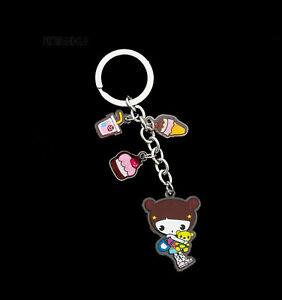 Schlüsselanhänger Sammlung Puppe Japanischer Kokeshi Mit Strass E3 8356