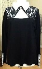 Leo Guy Fancy Long Sleeve Blouse (Made In France) Size XXL Blk/Wht Color