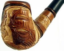 "Carved tobacco smoking pipe *Ship* (Cooling filter) | pipes - 6.1"" (15,5cm)"