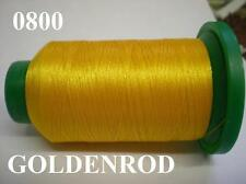 ISACORD MACHINE EMBROIDERY THREAD 1000M GOLDEN ROD GOLD YELLOW 0800