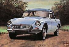 MGB 1962-80 Set di 4 CARTOLINE-MG LEYLAND Hard/Soft Top Roadster Auto Sportiva