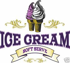 "Ice Cream Soft Serve Decal 24"" Concession Food Truck Cart Restaurant Vinyl Menu"