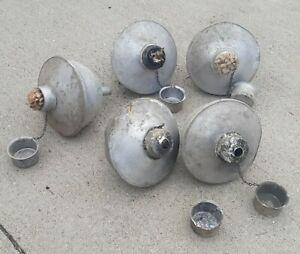 Lot of 5 VTG Aluminum metal ANTIQUE Luau Garden patio Torches CAMPGROUND MARINA