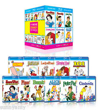 Disney Blu Ray Boxset - 11 Classic Films - Pinocchio Peter Pan Snow White Alice