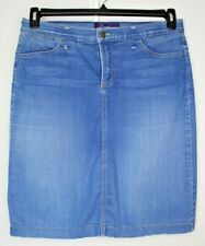 Not Your Daughters Jeans NYDJ Blue Womens Denim Skirt Size 12