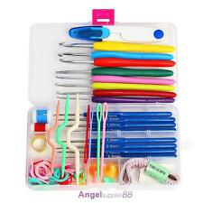 16 Sizes Crochet Hooks Knitting Needles Stitches Case Crochet Set Craft Tool Kit