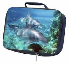 Dolphins Navy Insulated School Lunch Box Bag, AF-D3LBN