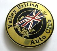 Valley British Auto Club Car grill badge emblem enamled car logos metal e badge