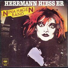 NINA HAGEN HERRMANN HIESS ER 45T SP 1980 CBS 8234