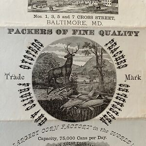 1870s Maryland oyster corn packers Louis McMurray Co Baltimore Frederick factory