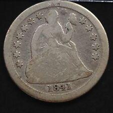 USA 1841 O Seated Liberty Dime la Nouvelle Orleans 10 Cents argent RARE VG 3823