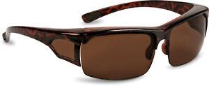 Überbrille Sonnenbrille über Brille Coverbrille braun mit Wechselgläsern Neu