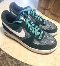 Nike Air Force 1 Size 9.5 Snake Skin Men's Green White Sneaker Shoes