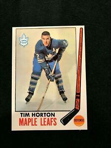 1969-70 TOPPS HOCKEY Tim Horton # 45 Toronto Maple Leafs HOF