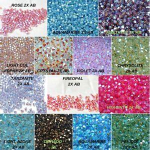 5mm Swarovski 2X AB Rainbow bicones beads 144 PCS jewelry making FREE SHIPPING