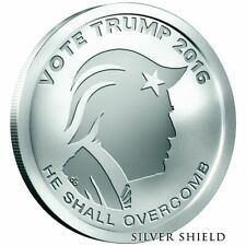 2016 Vote Trump 1 oz. Silver Round/Coin -- Silver Shield fresh from mint tube
