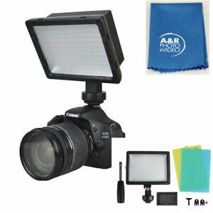LED-160 high intensity 5500-6000K Fits Canon 80D 5D 6D 7D Nikon D5600 D3500