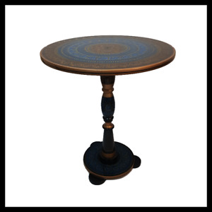 Handmade And Hand Painted Truck Art Decorative Round Wooden Coffee Table