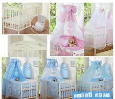 lettino bimbo culla con rotelle per neonato con set coordinato velo materasso !