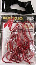 100 Matzuo 150060 150062 Red Sickle Open Eye Siwash Fish Fishing Hooks size 3/0