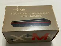 Vintage Sears Calculator 8M Microelectronic 8 Digit Memory w/ Box, Manual, Case.