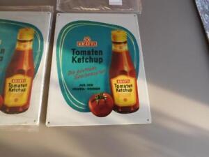 Werbeschild Kraft Tomaten Ketchup  30 x 40 cm Neu in Folie